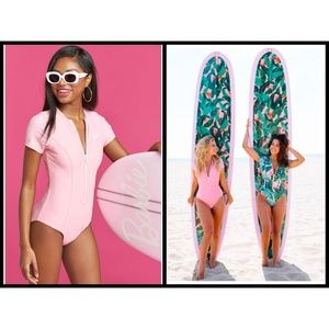 🦄SHOW Me YOUR MUMU Barbie Pipeline Zip One Piece
